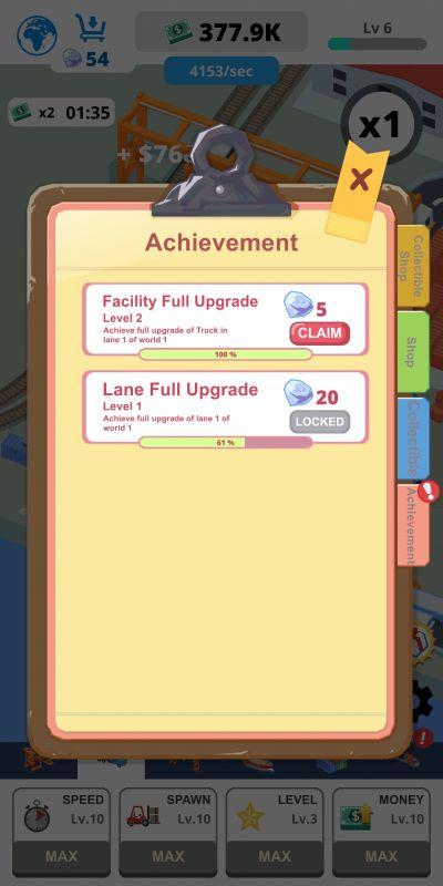 idle port tycoon achievement rewards