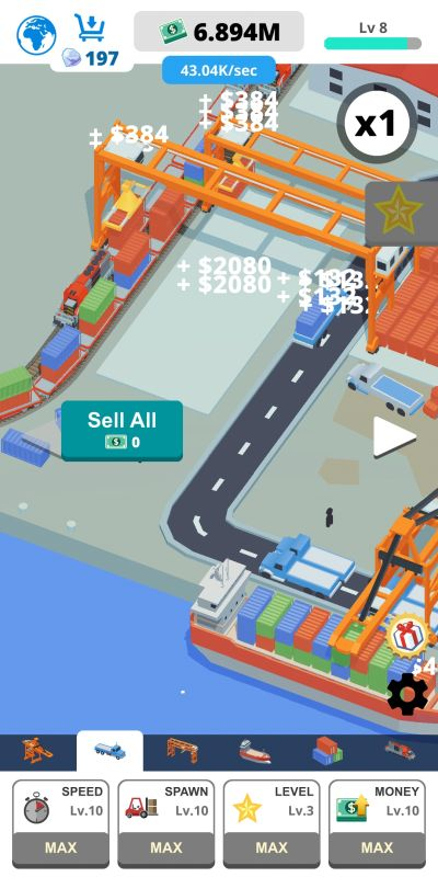 how to unlock lanes in idle port tycoon