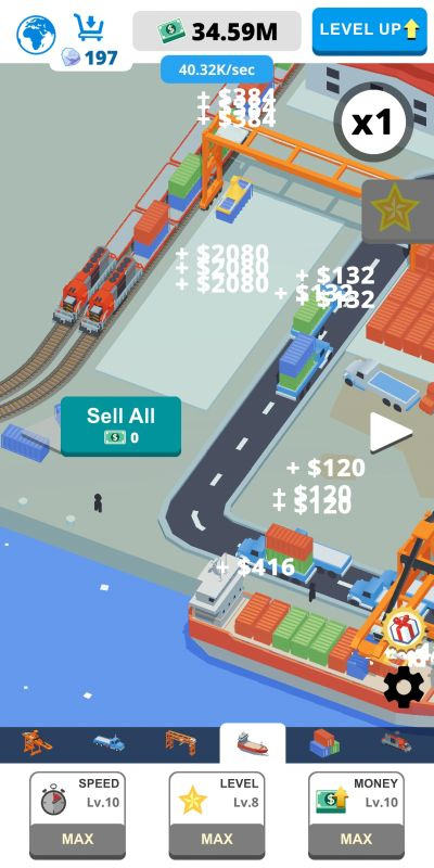 how to level up fast in idle port tycoon