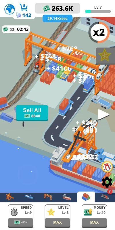 idle port tycoon tricks