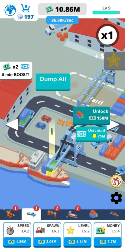 idle port tycoon upgrades