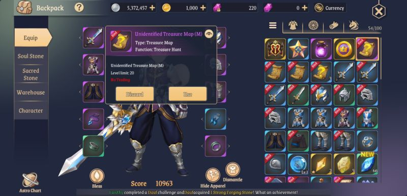 light of thel items