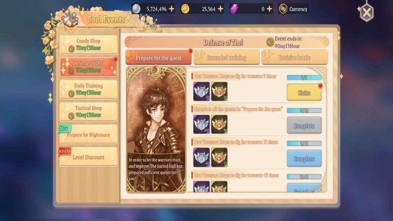 light of thel events for treasure maps