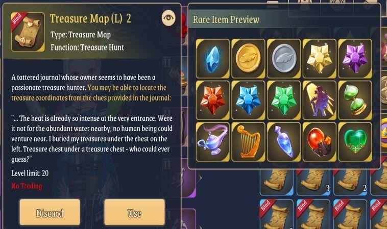 light of thel treasure map l loot