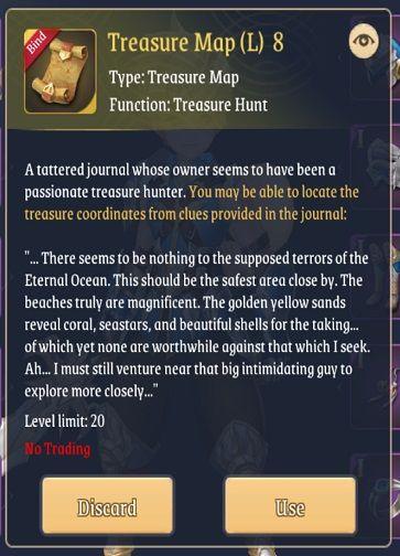 light of thel treasure map l8