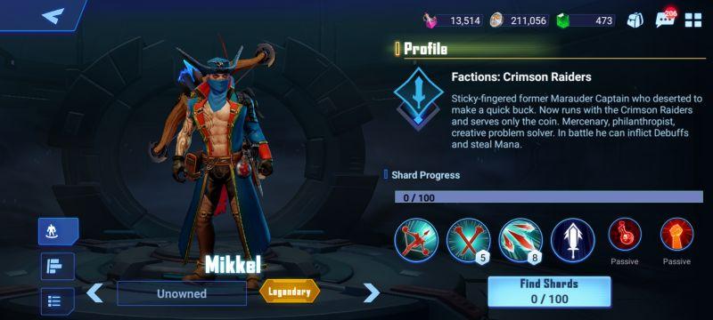 mikkel crystalborne heroes of fate