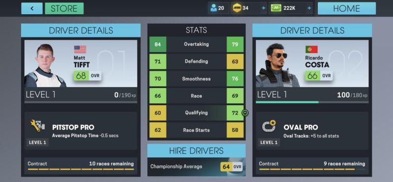 motorsport manager online driver upgrades