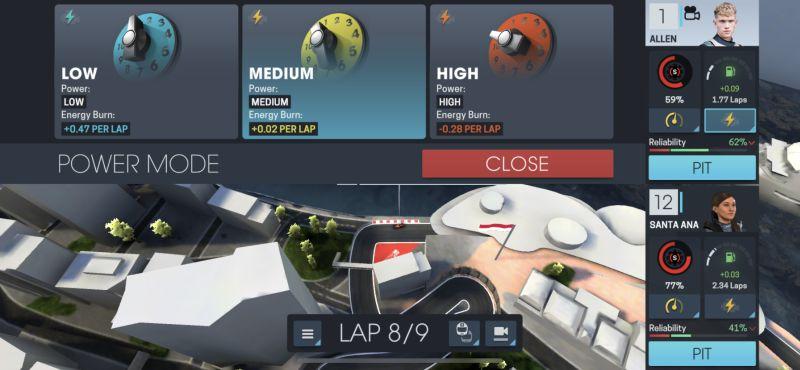 motorsport manager online power mode