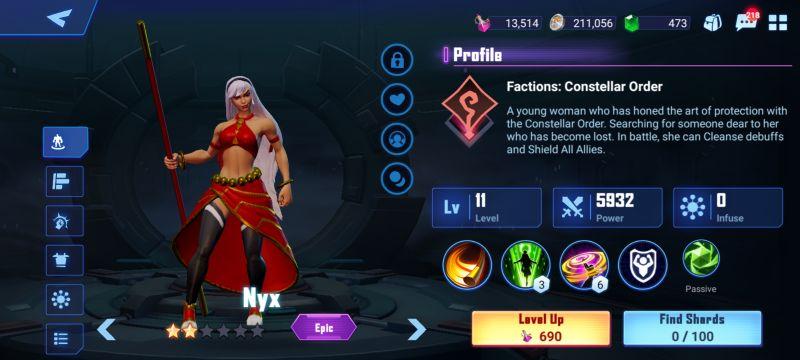 nyx crystalborne heroes of fate