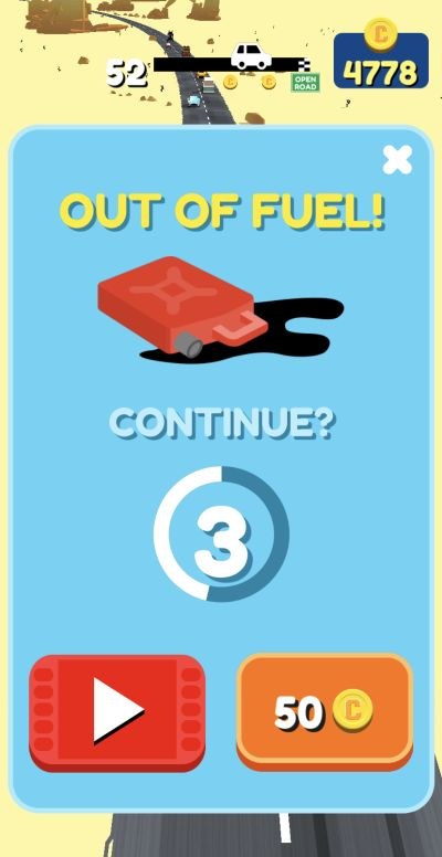 overtake out of fuel