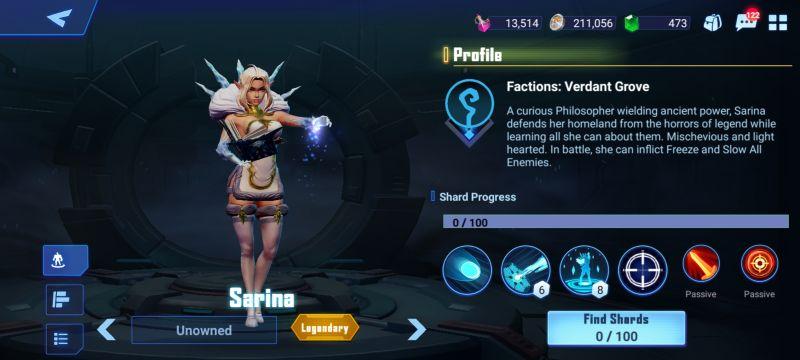 sarina crystalborne heroes of fate