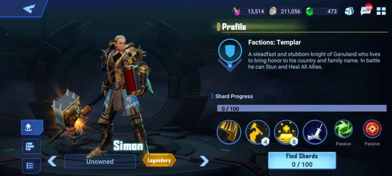 simon crystalborne heroes of fate