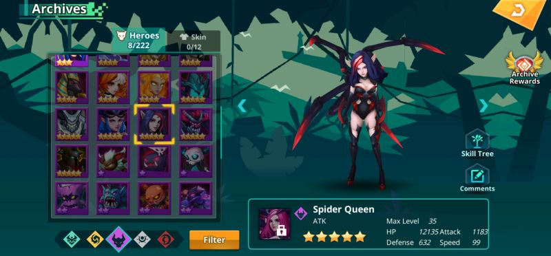 spider queen calibria crystal guardians