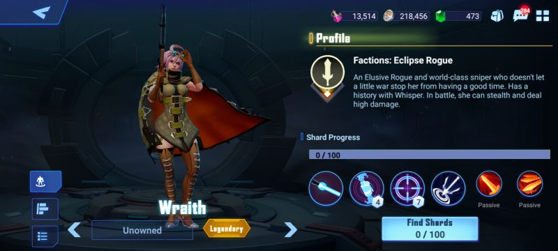 wraith crystalborne heroes of fate