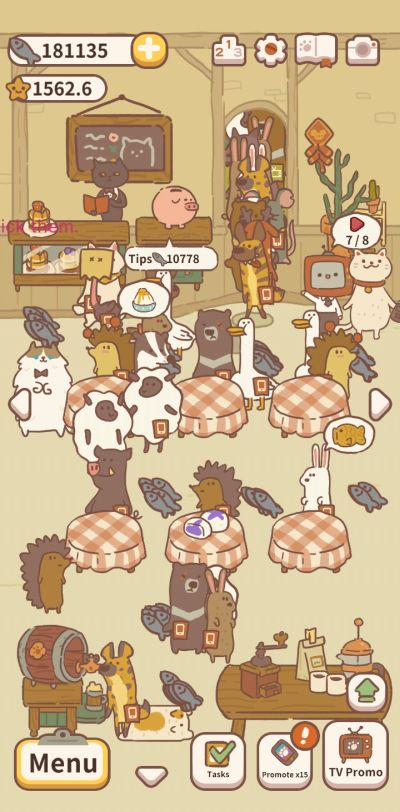 animal restaurant upgrades