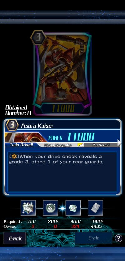 asura kaiser vanguard zero