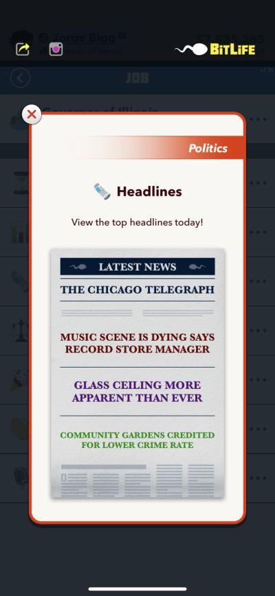 bitlife headlines