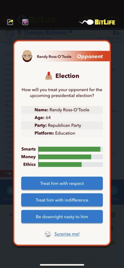 bitlife presidential election