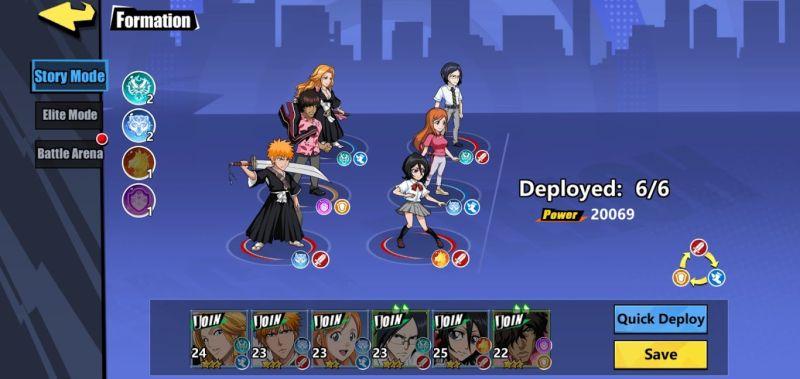 bleach immortal soul battle formation
