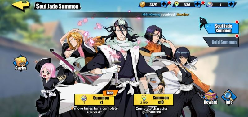 how to summon a character in bleach immortal soul