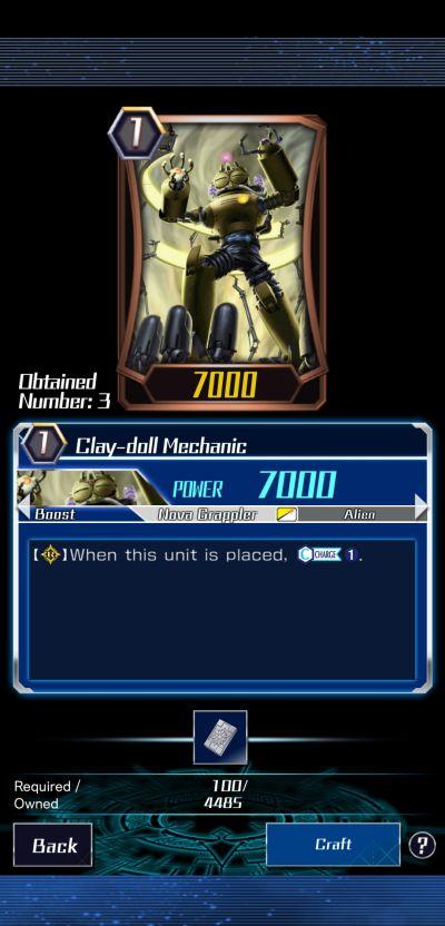 clay-doll mechanic vanguard zero