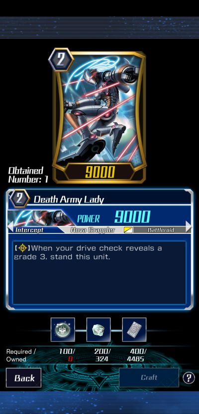 death army lady vanguard zero