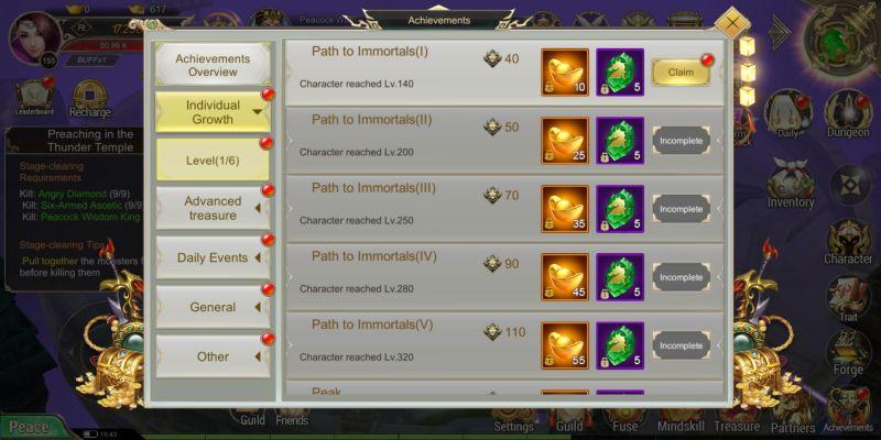 devil hunter eternal war achievement rewards