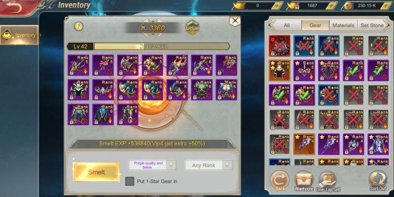 devil hunter eternal war inventory