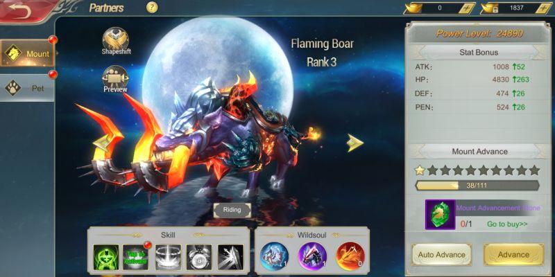 devil hunter eternal war mount and pet