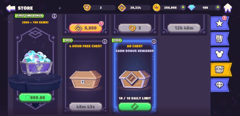 disney sorcerer's arena free chests and and boosts