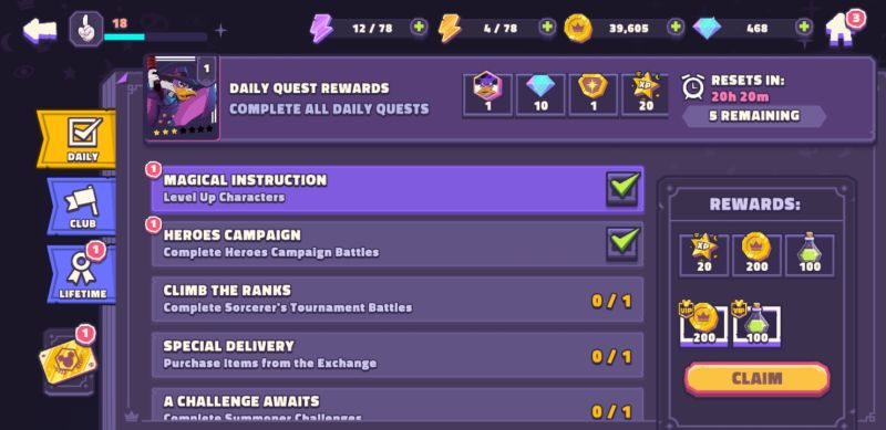 how to earn more rewards in disney sorcerer's arena