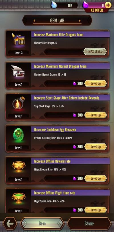 how to use the gem labl in dragon epic