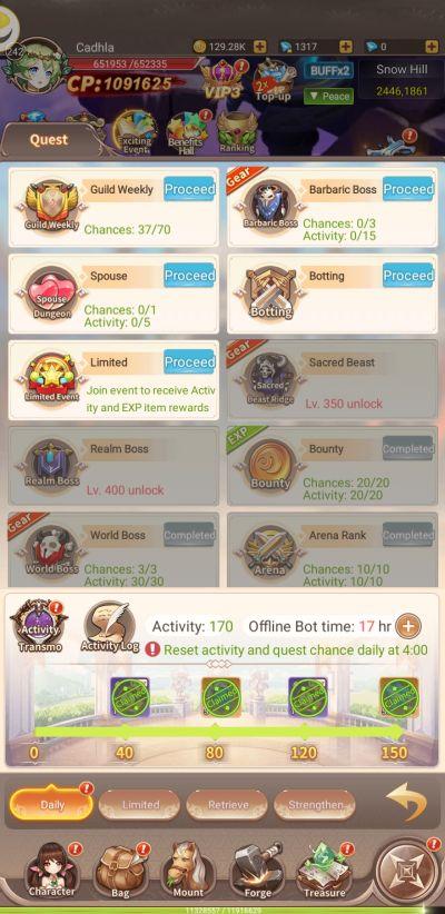 elf tales daily quests
