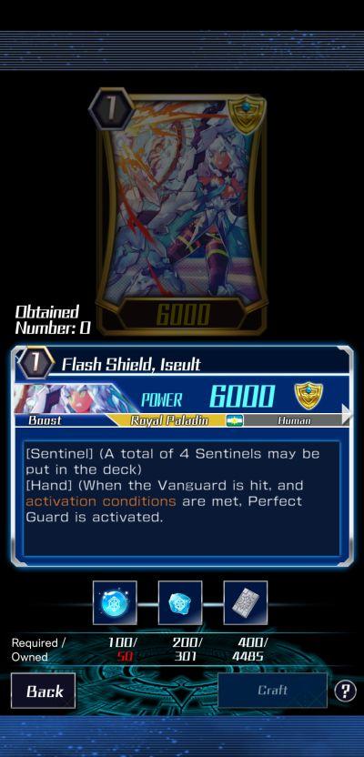 flash shield, iseult vanguard zero
