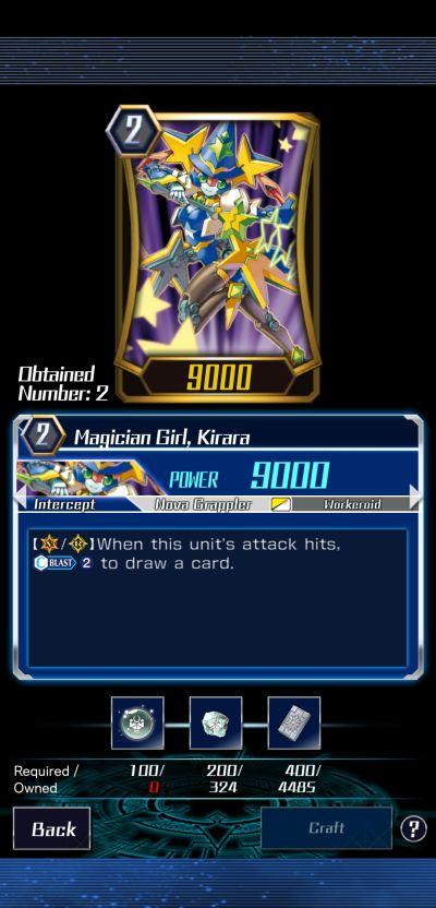 magician girl, kirara vanguard zero