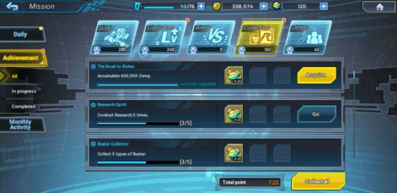 mega man x dive daily missions and achievements
