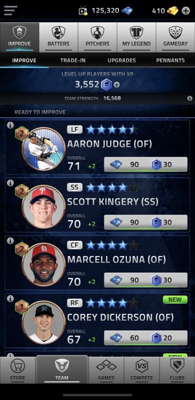 how to improve players in mlb tap sports baseball 2020