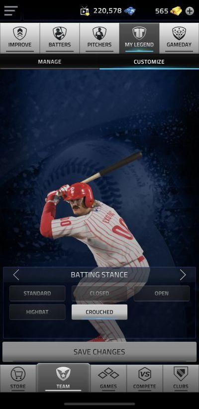 mlb tap sports baseball 2020 legend