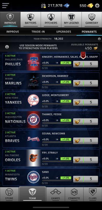 mlb tap sports baseball 2020 pennants