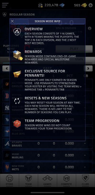 mlb tap sports baseball 2020 season mode