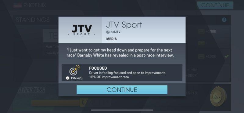 motorsport manager online driver improvement