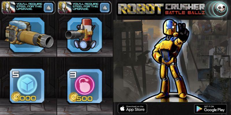 robot crusher battle ballz power ups