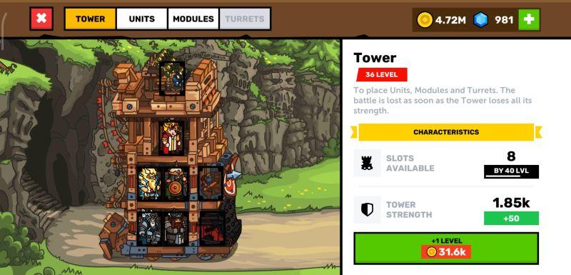 towerlands tower upgrades