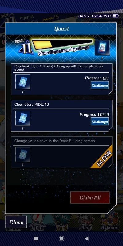 vanguard zero quests