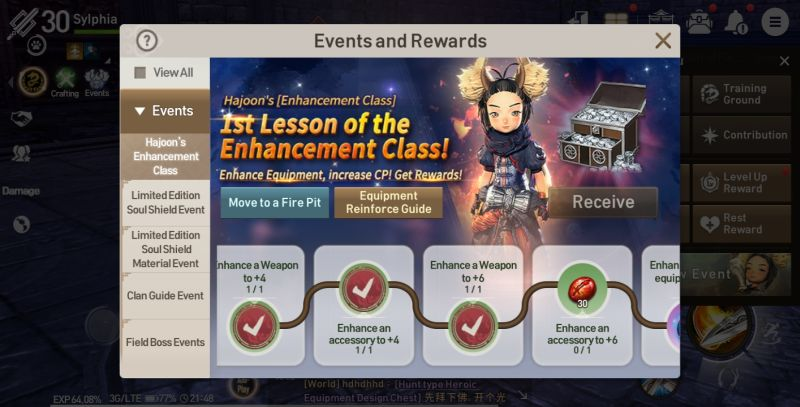 how to earn more rewards in blade & soul revolution