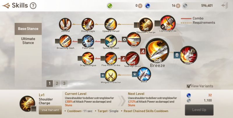 how to level up skills in blade & soul revolution