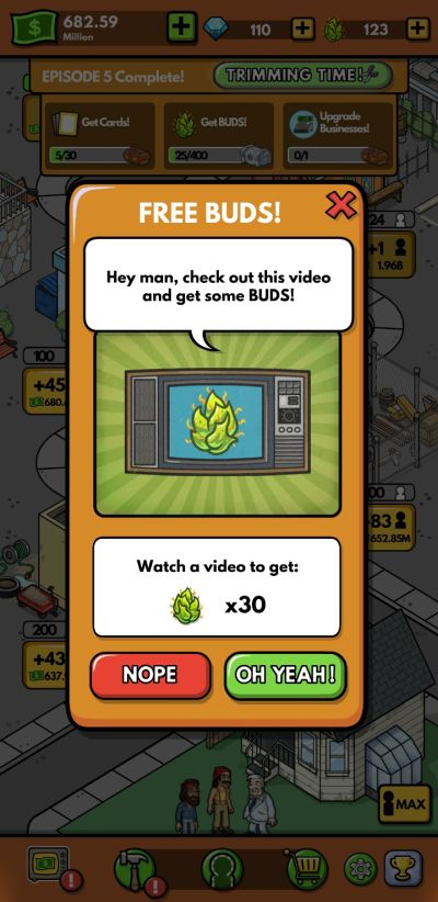 how to earn more rewards in cheech and chong bud farm