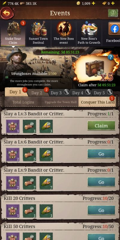 how to make the most out of events in frontier justice