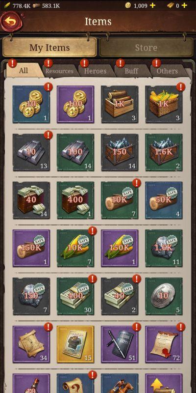 frontier justice inventory