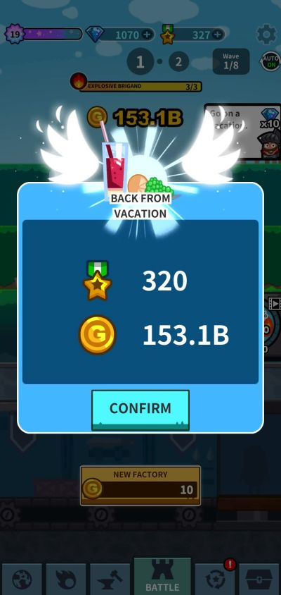when to go on vacation in hero factory